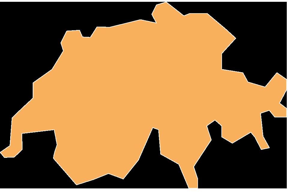Kaart van de Sempatap-verkopers in Zwitserland