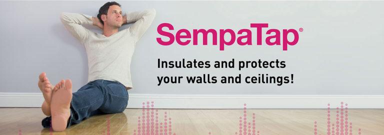 Ontdek SempaTap, een product voor warmte-isolatie en geluidsabsorptie voor muren en plafonds.