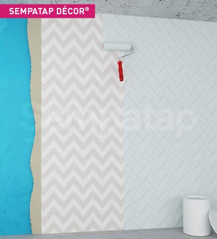 empaTap Décor is een product voor warmte-isolatie en geluidsabsorptie tegen scheuren, ideaal voor de decoratie van openbare ruimtes.