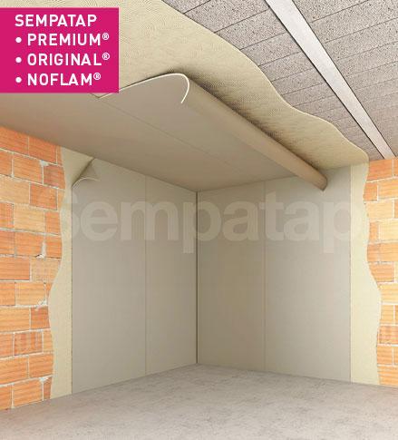 SempaTap Premium, Original en Noflam zijn veelzijdige oplossingen voor warmte-isolatie en geluidsabsorptie, doeltreffend tegen vochtigheid en scheuren.