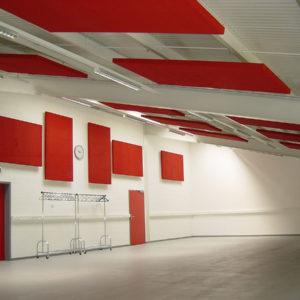 ABSOPANEL akoestische panelen zijn geschikt voor montage tegen een muur of plafond en zorgen voor een uitstekende geluidscorrectie in alle luidruchtige ruimtes.