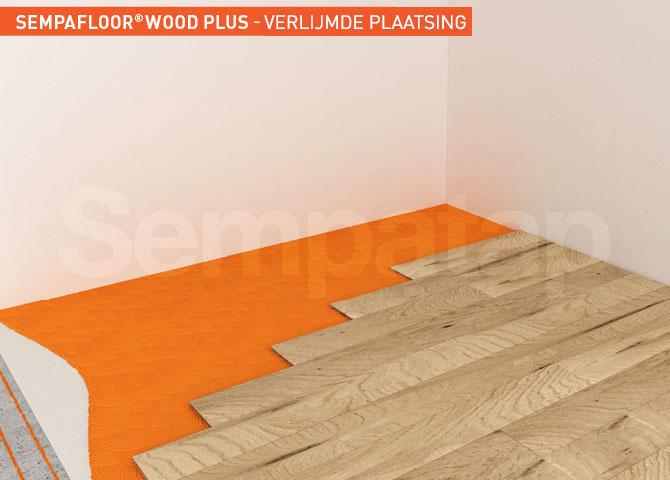 SempaFloor Wood Plus, geluidsisolatie onder verlijmd parket